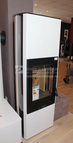 Contura Kaminofen 35 Hoch | Glasfront | Lange Glasseiten | Wärmespeichermagazin 70 Kg | Lack weiss