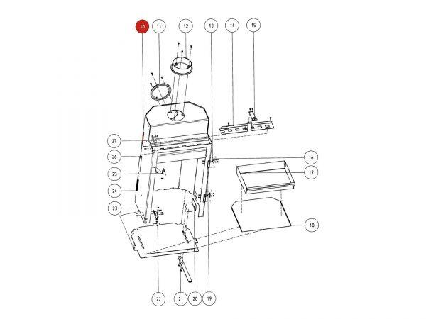 Rika Atrio Spannbolzen | Z17524 | Splitzeichnung Nr. 10