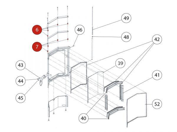 Distanz zu Rika Amigo | Z14922 | Splitzeichnung Nr. 6 und 7