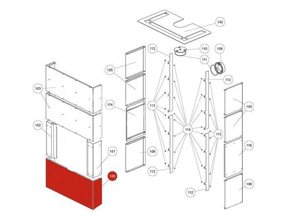 Rika Ambia Stahlfront unten | LB00744 | Splitzeichnung Nr. 100