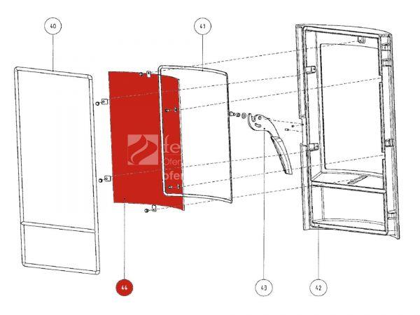Rika Tango Türglas   Z30317   Splitzeichnung Nr. 44
