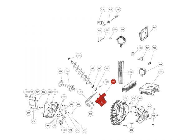 Schneckenmotor stufenlos zu Rika Domo | N112030 | Splitzeichnung Nr. 142
