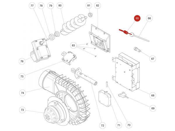 Rika Kapo Flammsensor | B16114 | Splitzeichnung Nr. 65