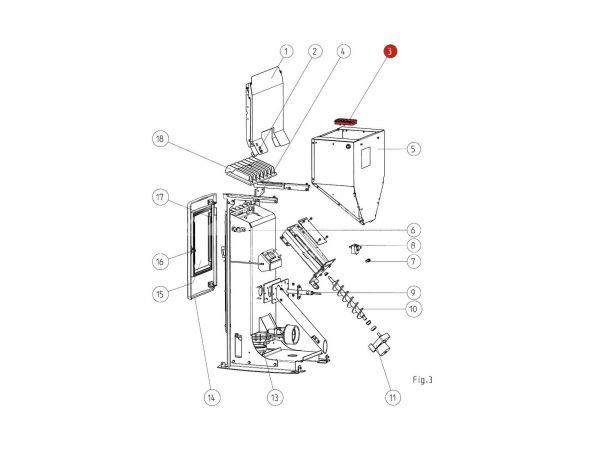 Tastendisplay ab Seriennr. 177782  zu Rika Memo | B16521 | Splitzeichnung Nr. 3