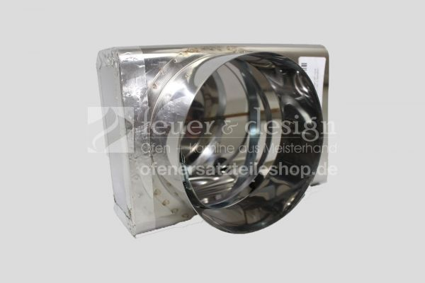 Brunner Verbrennungsluftstutzen 90° inkl. 2 Schellen | zu HKD 4.1 + 5.1 | GOT 5.1-12 | GOT 6.1-12