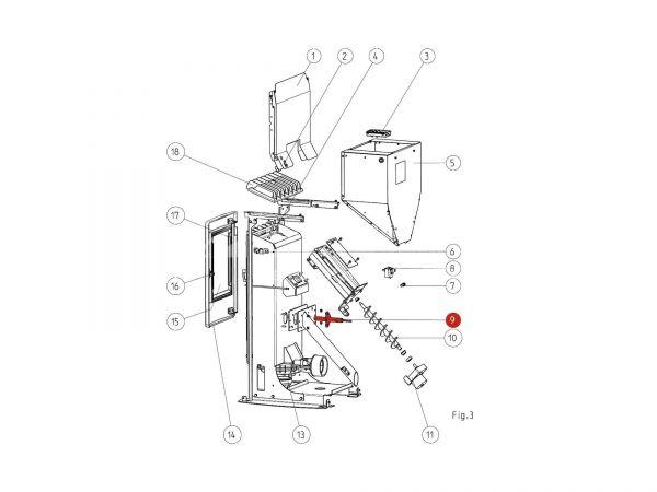 Keramikzündung zu Rika Memo | B17394 | Splitzeichnung Nr. 9
