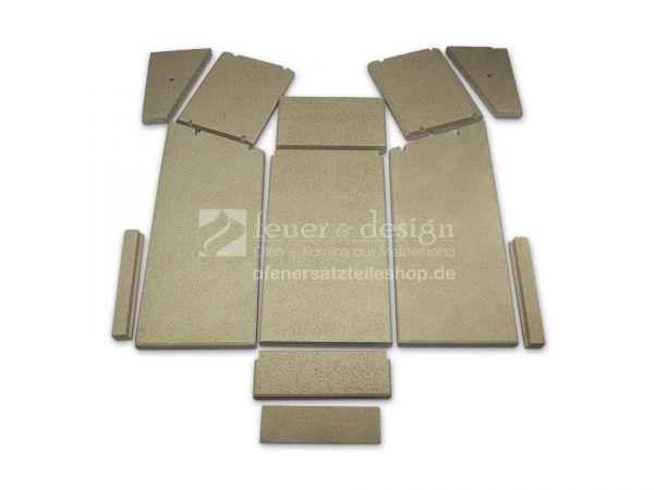 Skantherm Elements 400 Front Vermiculitesatz | Brennkammerauskleidung | 11 teilig