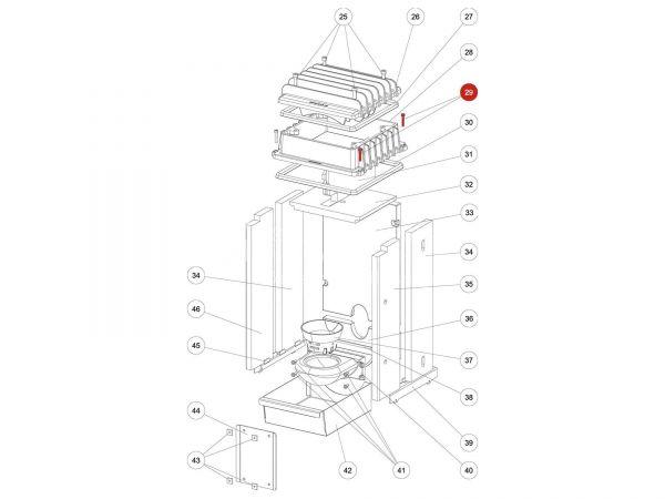 Rika Kapo ISK-Schraube M06x30 | N108572 | Splitzeichnung Nr. 29