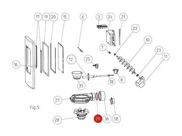 Rika Memo O-Ring D76/4,5 | N108315 | Splitzeichnung Nr. 29