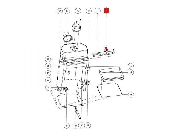 Rika Atrio Sekundärlufthebel | Z29543 | Splitzeichnung Nr. 15, 23 & 80