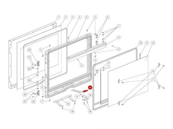 Rika Ambia Verschlussplatte | L03601 | Splitzeichnung Nr. 14