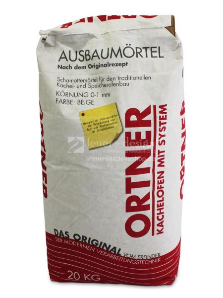 Ortner Ausbaumörtel 20kg Sack | Schamottemörtel