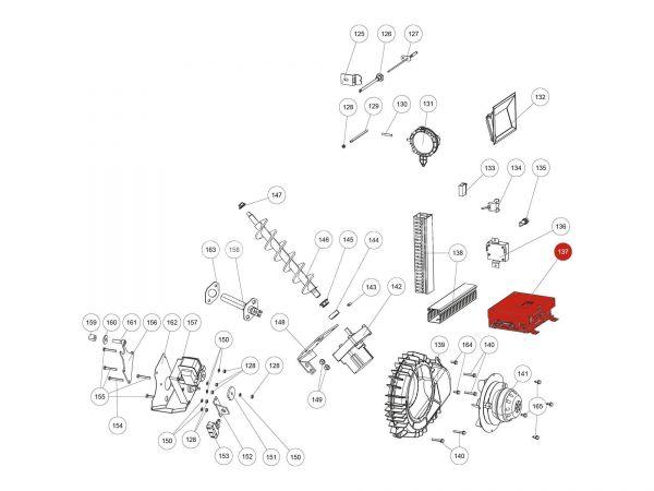 Hauptplatine USB11 zu Rika Domo | B16561 | Splitzeichnung Nr. 137