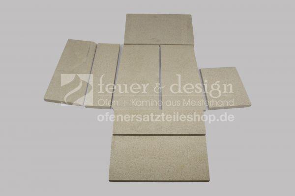 Skantherm Shaker Vermiculitesatz | Tür Rechts | 8 teilig | Brennkammerauskleidung