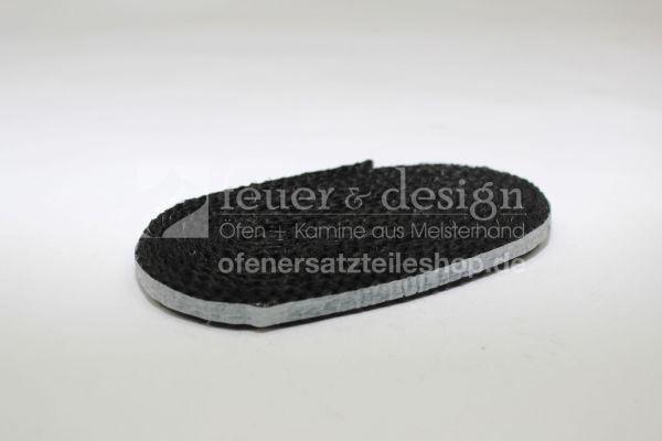 Skantherm Milano Dichtung Glasscheibe Nr. 9 | 2.6 m Textilglasdichtung 10x5 mm | selbstklebend