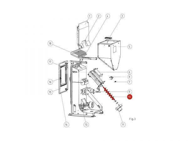 Förderschnecke zu Rika Memo | B12301 | Splitzeichnung Nr. 10