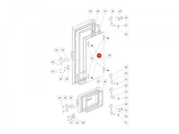 ISK-Schraube zu Rika Domo | N112178 | Splitzeichnung Nr. 35