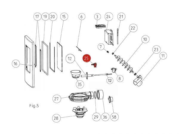 Kontaktschalter zu Rika Memo | N111825 | Splitzeichnung Nr. 25