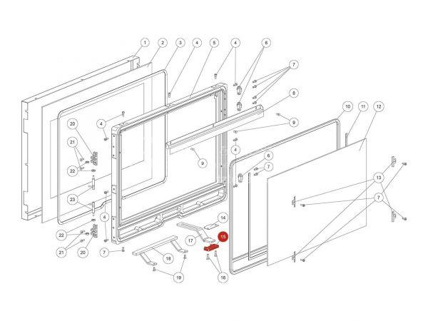 Rika Ambia Verschlusslasche | L03602 | Splitzeichnung Nr. 15