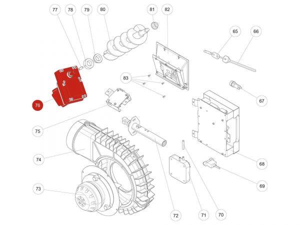 Rika Kapo Schneckenmotor stufenlos | N112030 | Splitzeichnung Nr. 76