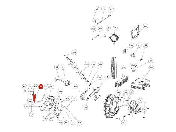 Motorplatte zu Rika Domo | L02643 | Splitzeichnung Nr. 156