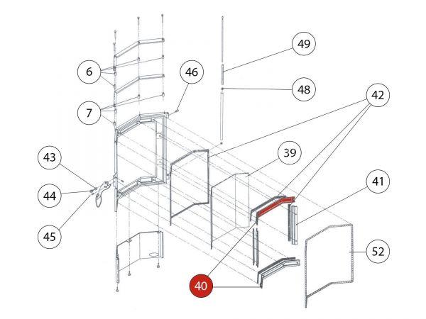 Rika Amigo Glashalter oben/unten | Z21566 | Splitzeichnung Nr. 40
