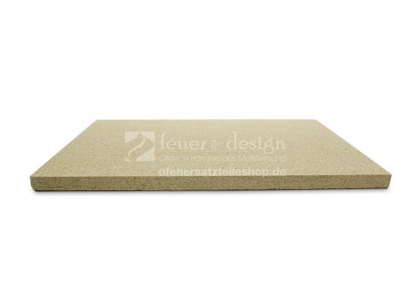 Feuerraumplatte Vermiculite |  60 x 40 x 2,5 cm | bis 1100 °C | SF600