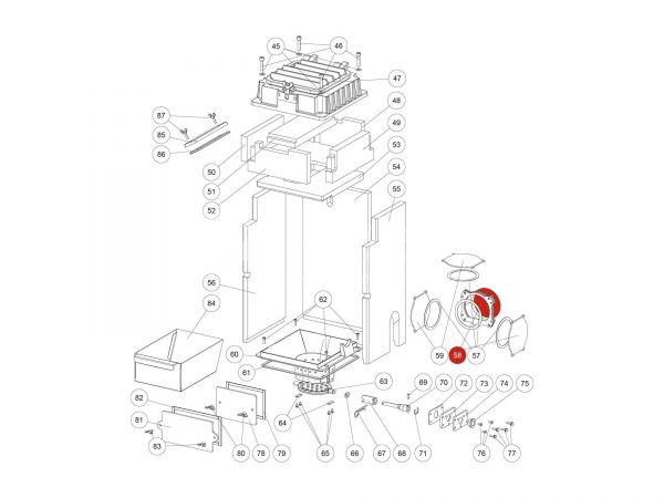 Rika Domo Zwischenplatte   Z37832   Splitzeichnung Nr. 58