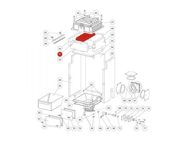 Innenauskleidung oben bis Serienr. 1379139 zu Rika Domo   Z36924   Splitzeichnung Nr. 51