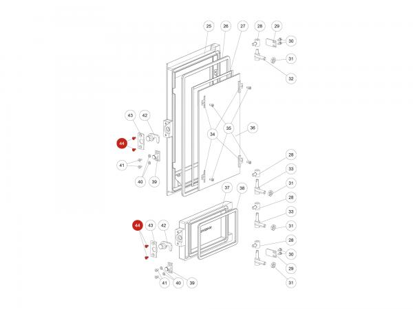 ISK-Schraube zu Rika Domo | N100242 | Splitzeichnung Nr. 44