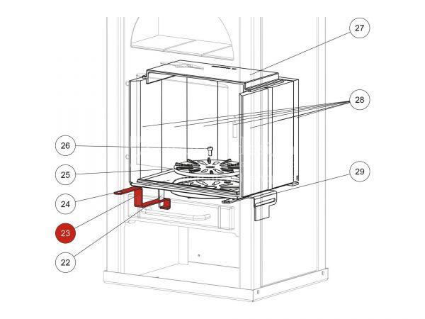 Rüttelrostbetätiger metallic zu Rika Alpha II   Z30064   Splitzeichnung Nr. 23