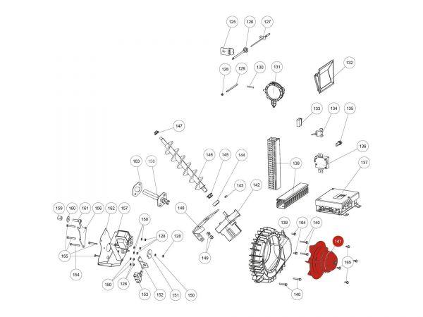 Saugzuggebläsemotor zu Rika Domo | N111581 | Splitzeichnung Nr. 141