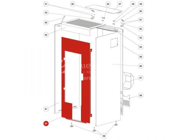 Rika Kapo Front silber (ab Seriennr. 1361180) | LB00632 | Splitzeichnung Nr. 60