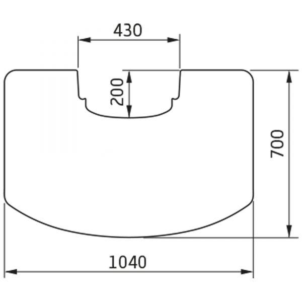 Contura Vorlegeplatte Glas 6mm zu Contura Kaminofen 800 und 800 Style