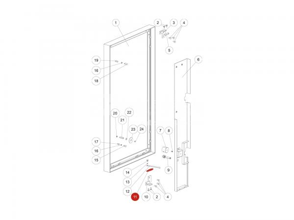 Gehängeplatte zu Rika Domo | Z35996 | Splitzeichnung Nr. 11
