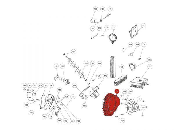 Saugzuggebläsegehäuse  zu Rika Domo | B16951 | Splitzeichnung Nr. 139