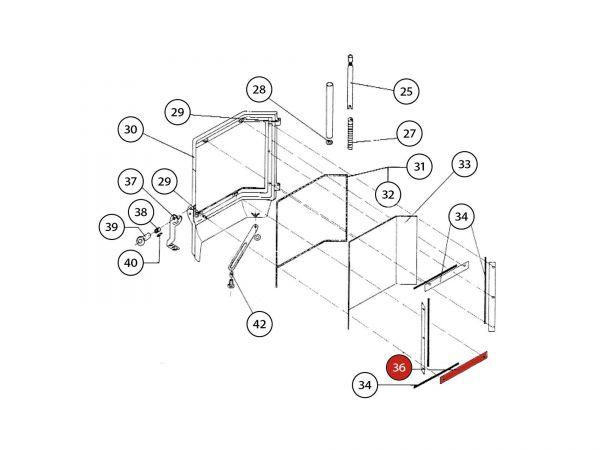 Glashalter oben/unten zu Rika Amato | Z21739 | Splitzeichnung Nr. 36