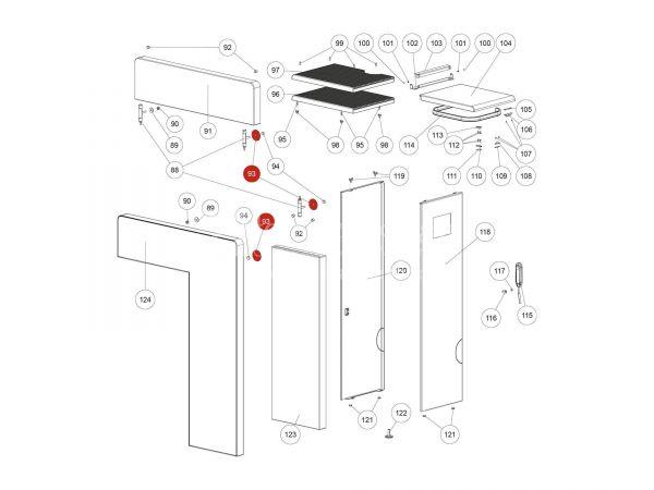 Behälterabdichtung zu Rika Domo | L02239 | Splitzeichnung Nr. 93