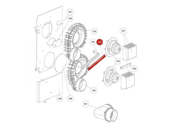 Deckel Kabelführung zu Rika Domo | L02723 | Splitzeichnung Nr. 185