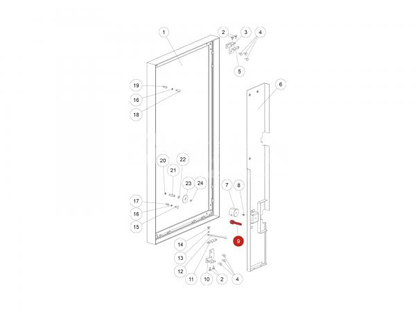 Druckfeder zu Rika Domo | B17521 | Splitzeichnung Nr. 9