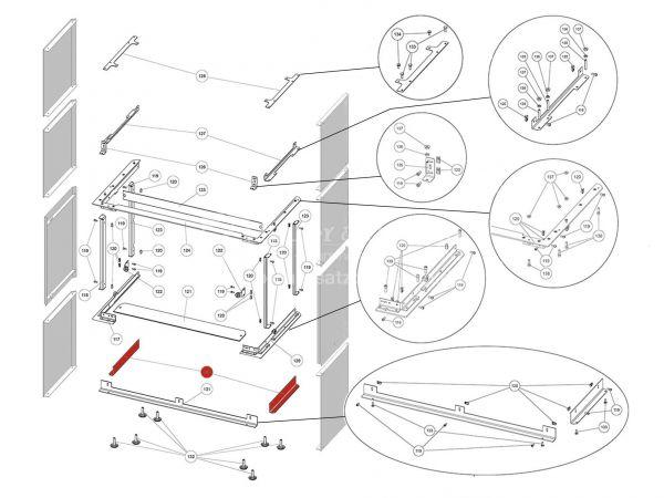 Rika Ambia Halterung für Seitenverkleidung unten | Z37894 | Splitzeichnung Nr. 130