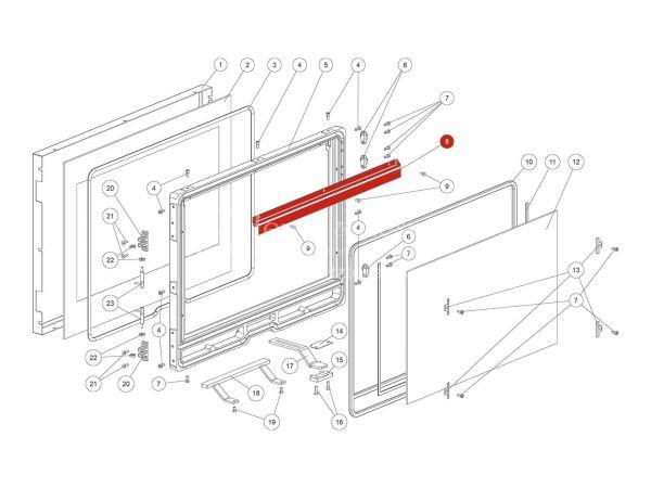Rika Ambia Sekundärluftblende | L03696 | Splitzeichnung Nr. 8
