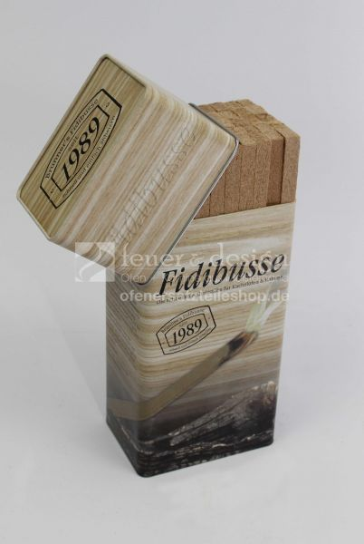 Fidibus Kaminanzünder 50 St. | nostalgische Blechdose |  Original Brunner Fidibusse