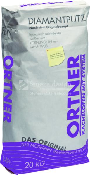 Ortner Diamantputz 20 kg Sack | Körnung 0-1 mm | Kachelofenputz