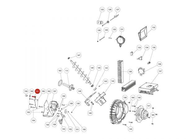 ISK-Schraube zu Rika Domo   N112378   Splitzeichnung Nr. 161