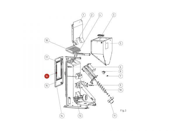 Verschlussbolzen komplett bis Seriennr. 1301733 zu Rika Memo | B15313 | Splitzeichnung Nr. 16