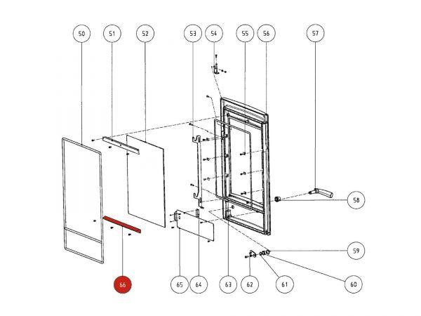 Rika Atrio Glasleiste unten | Z29548  | Splitzeichnung Nr. 66