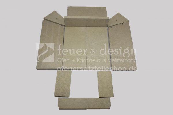 Skantherm Elements 603 Front Vermiculitesatz | Brennkammerauskleidung | 12 teilig