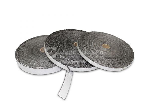 Kaminofen Türdichtung   Flachdichtung selbstklebend 20 x 2 mm Meterware ( Länge nach Wahl )
