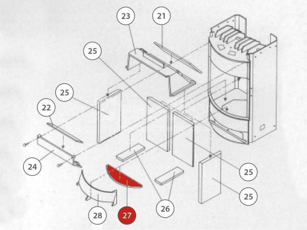 Rika Taurus Bodenschamott vorne | Z21401 | Splitzeichnung Nr. 27
